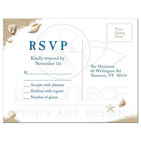 Postcard Invitations Rsvp Postcard Toes Salty Kisses