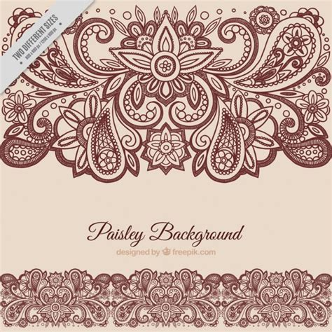 paisley pattern vector ai floral paisley background vector free download