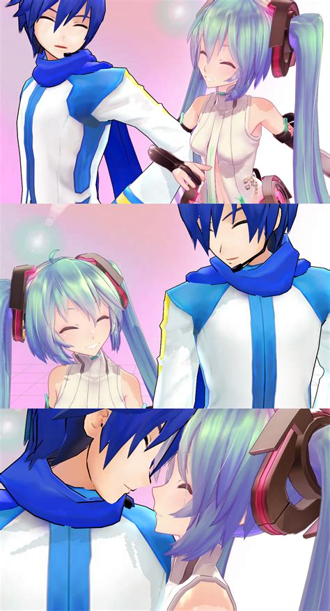 imagenes de kaito kawaii mmd kaito and miku you make me smile by unimesshichui