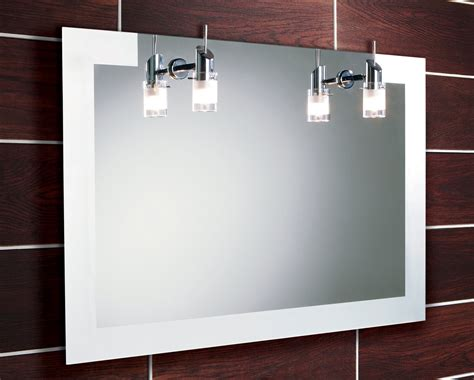 landscape bathroom mirror hib felix illuminated mirror with halogen lights 900 x 600mm 64283495