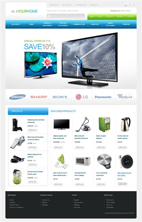Appliances For Home Opencart Template 41888 Home Appliances Website Template Free