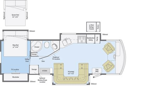 winnebago floor plans adventurer floorplans winnebago rvs