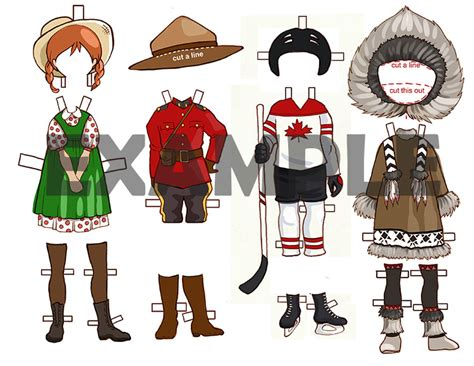 paper dress up dolls template canadian dress up paper doll printable template with