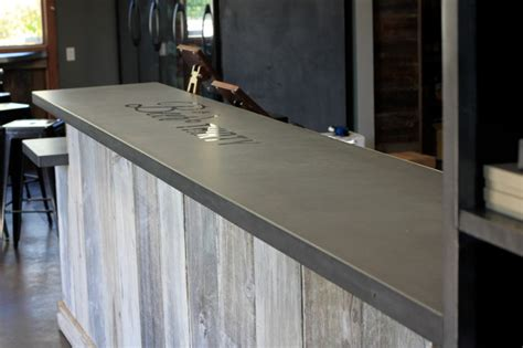 concrete bar tops concrete bar top craftsman home bar san francisco