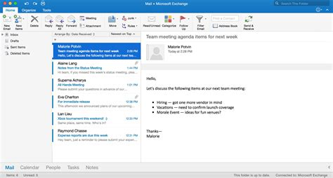 microsoft outlook for mac the best mac email app