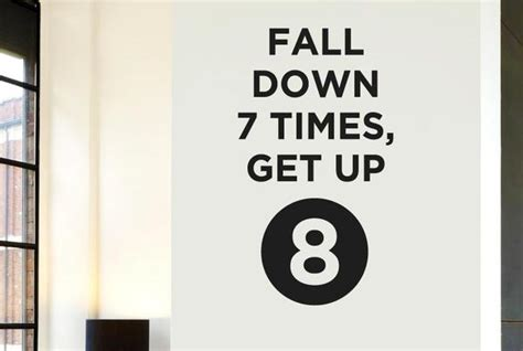 Wall Tiles Stickers fall down 7 times get up 8 cut it out wall stickers uk and