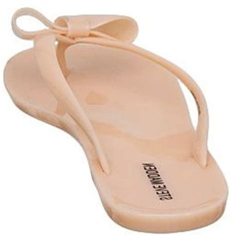 steve madden jelly sandals steve madden tropic bow detail jelly sandals in pink