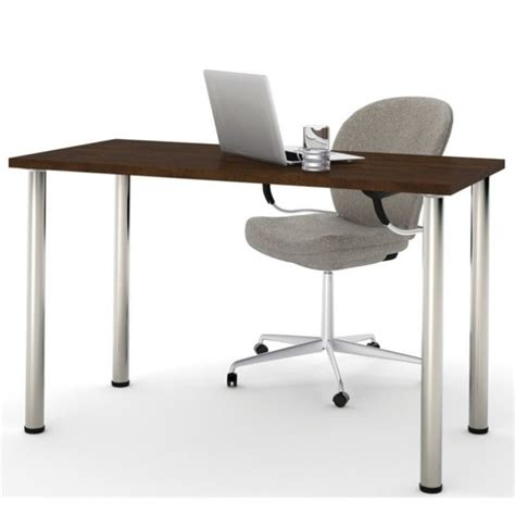 Circular Computer Desk by Computer Desk Home Office Table With Metal Leg In Chocolate Modern