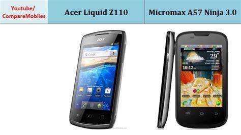 Handphone Acer Liquid Z110 acer liquid z110 micromax a57 3 0 comparison