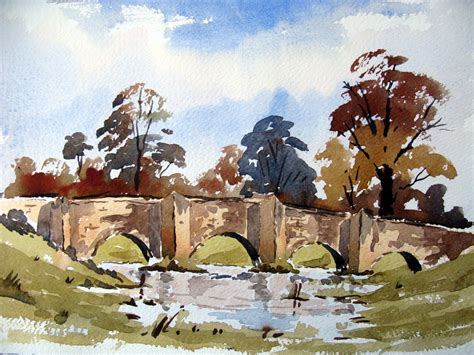 watercolor tutorial alan owen a loose watercolor sketch of a bridge with alan owen youtube