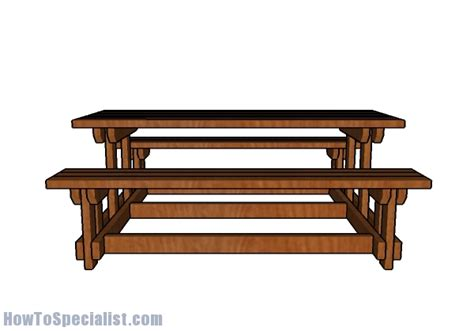 picnic tables with detached benches 6 foot picnic table with benches plans howtospecialist