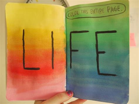 life is like a colouring book make it colourful we