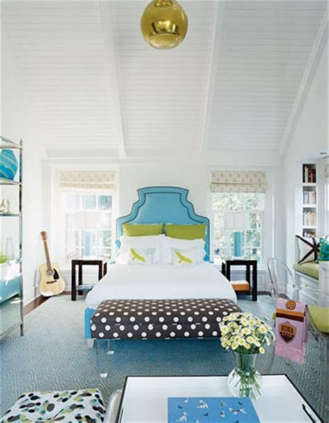 sweet stylish brown and turquoise bedroom ideas for kids lucite bench contemporary girl s room house beautiful