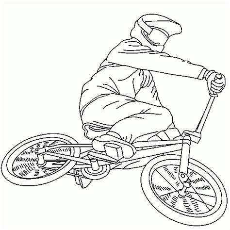 bmx bike coloring page sport coloring to print