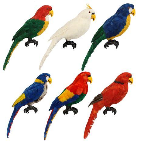 artificial decorations artificial plastic parrot animal decor handicraft garden