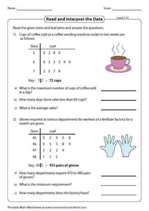 Stem And Leaf Plot Worksheets Middle School