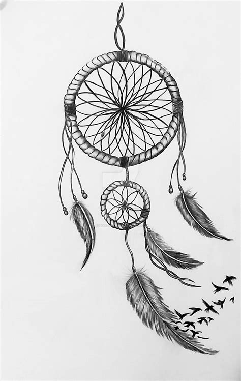 dreamcatcher tattoo drawing dreamcatcher drawing by sobiya draws miscelaneous iv