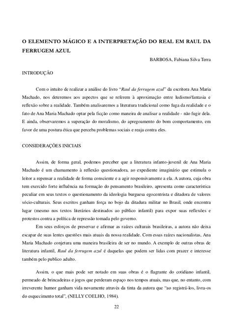 Interpretação De Texto Do Livro Raul Da Ferrugem Azul