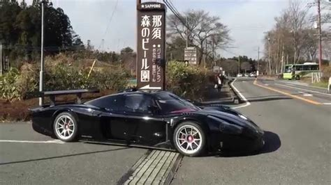 maserati street maserati mc12 corsa on street in japan youtube