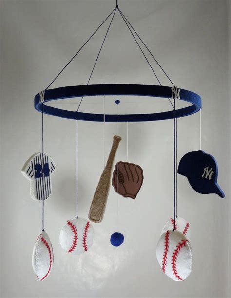 mlb mobile baseball baby mobile sports team yankees boy