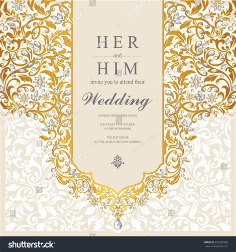 Hd Wedding Background Islam by Wedding Card Invitation Card Card Abstract Stock Vector