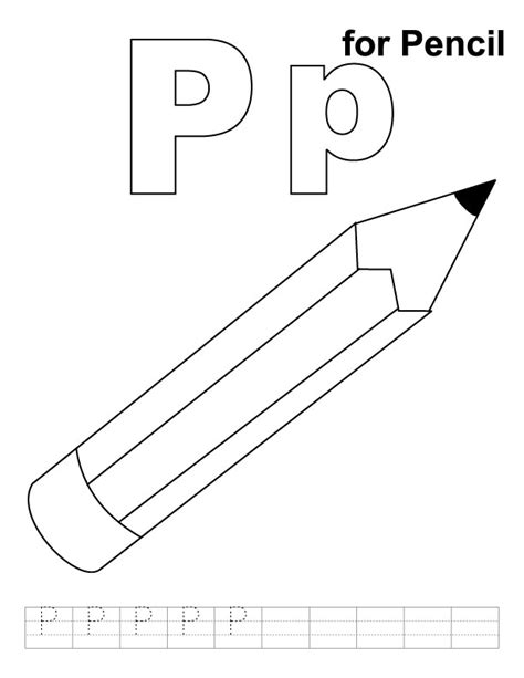 coloring book for a p p for pencil coloring page with handwriting practice