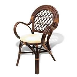 Rattan Armchair Design Ideas Bali Handmade Rattan Wicker Dining Chair With Attached Cushion Design Woven Back Ebay