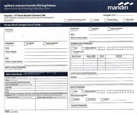 Safety Box Di Bank Mandiri contoh slip pembayaran atau bukti transaksi dalam perbankan tinta hitam