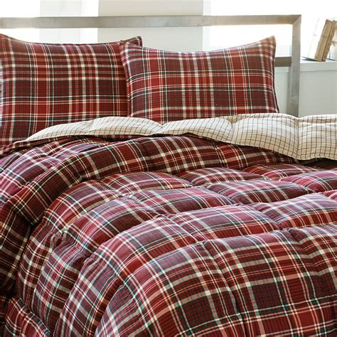 red plaid bedding eddie bauer northwood plaid comforter set from