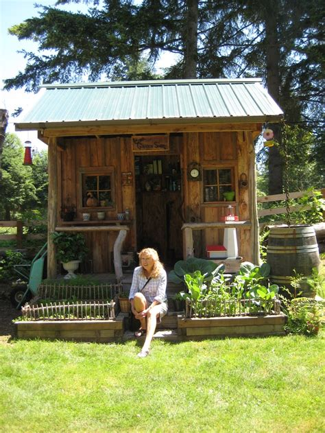 cute garden sheds becky sitting in front of a cute garden shed on one of our