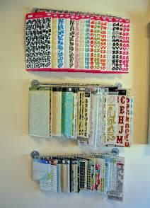 Scrapbook Paper Organizer Sticker Storage On Pinterest