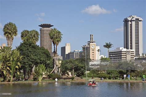 nairobi official site kenya nairobi nairobi city skyline from uhuru park stock