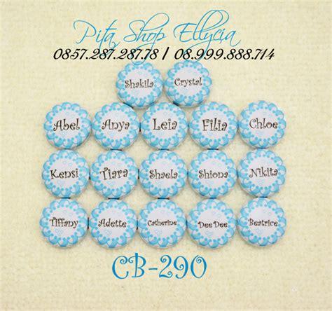 Bulu Pad Motif 3 Pam 3 pita shop ellycia custom button 2 8cm kancing bungkus