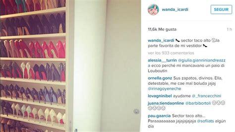 vestidor zapatos wanda nara wanda nara mostr 243 una lujosa colecci 243 n de zapatos eldoce tv