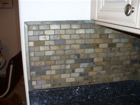 slate backsplash in kitchen slate backsplash tiling contractor talk