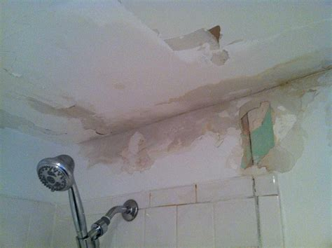 water damage in bathroom water damage to bathroom ceiling and wall the home depot