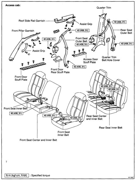 service manuals schematics 2011 toyota tundramax spare parts catalogs installation of seat belt for toyota tundra sr5 rear seat left side 2002
