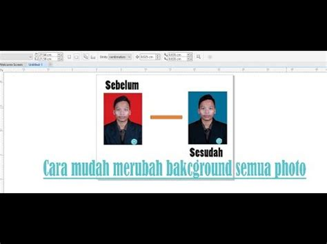 corel draw x7 remove background cara mengganti background foto dengan corel draw x7 youtube