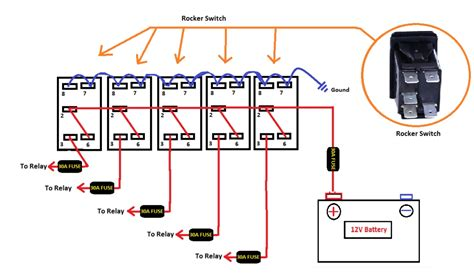 light with 3 wire rocker switch wiring diagram wiring