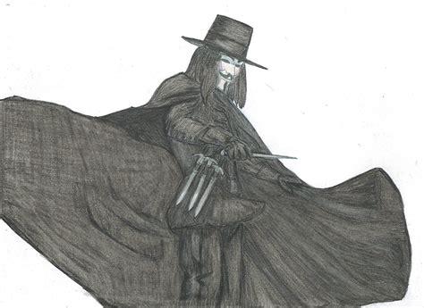 Drawing V For Vendetta by V For Vendetta Color By Ragdollmurderer On Deviantart