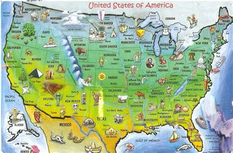 map usa vacation spots united states of america tours