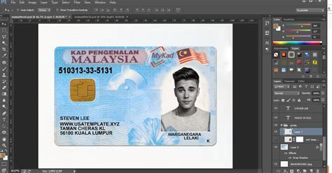 Ohio Id Card Photoshop Template by Msia Ic Picture Impremedia Net