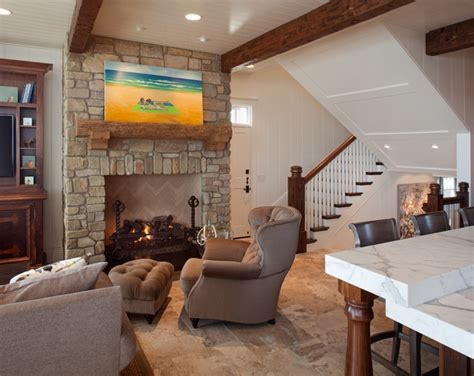 transitional beach house beach style living room san transitional beach house beach style family room san