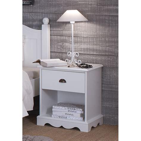 chevet blanc 1 tiroir de style anglais beaux meubles pas