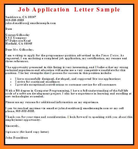 9 sles if application letter in nigeria basic
