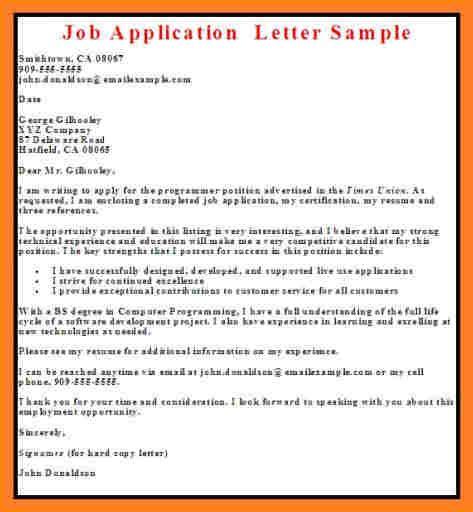 9 samples if job application letter in nigeria basic
