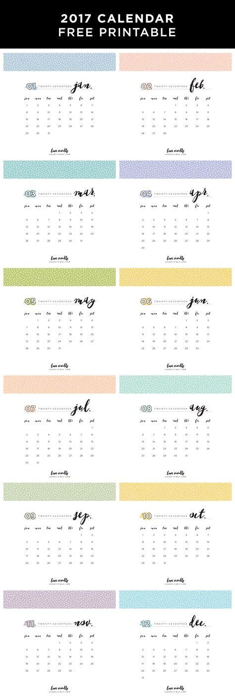 printable calendar etsy 2017 calendar free printable selling on etsy