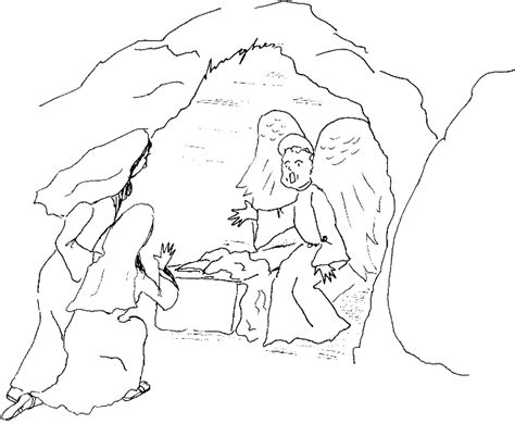 coloring pictures of jesus empty tomb free angel at the empty tomb coloring pages