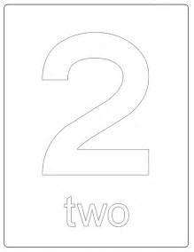 number 2 coloring page printable numbers number 2