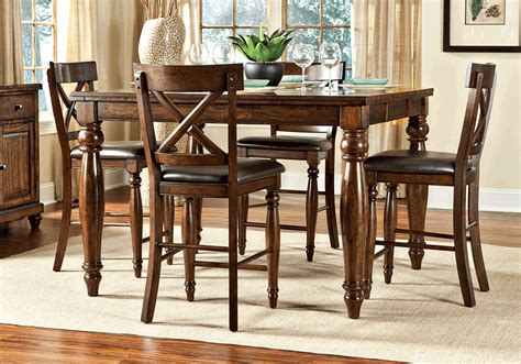 counter height dining table set kingston counter height dining table and 4 side chairs